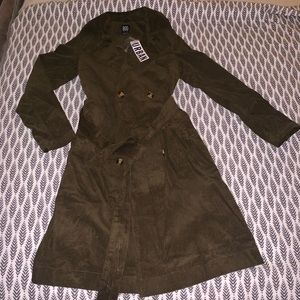 NWT Urban Outfitters BDG Corduroy Trench Coat